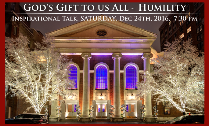 Join us this Christmas Eve for an Inspirational Event!